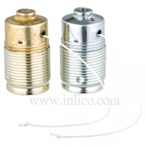 E27 Plated Steel Lampholders with Pull Switch