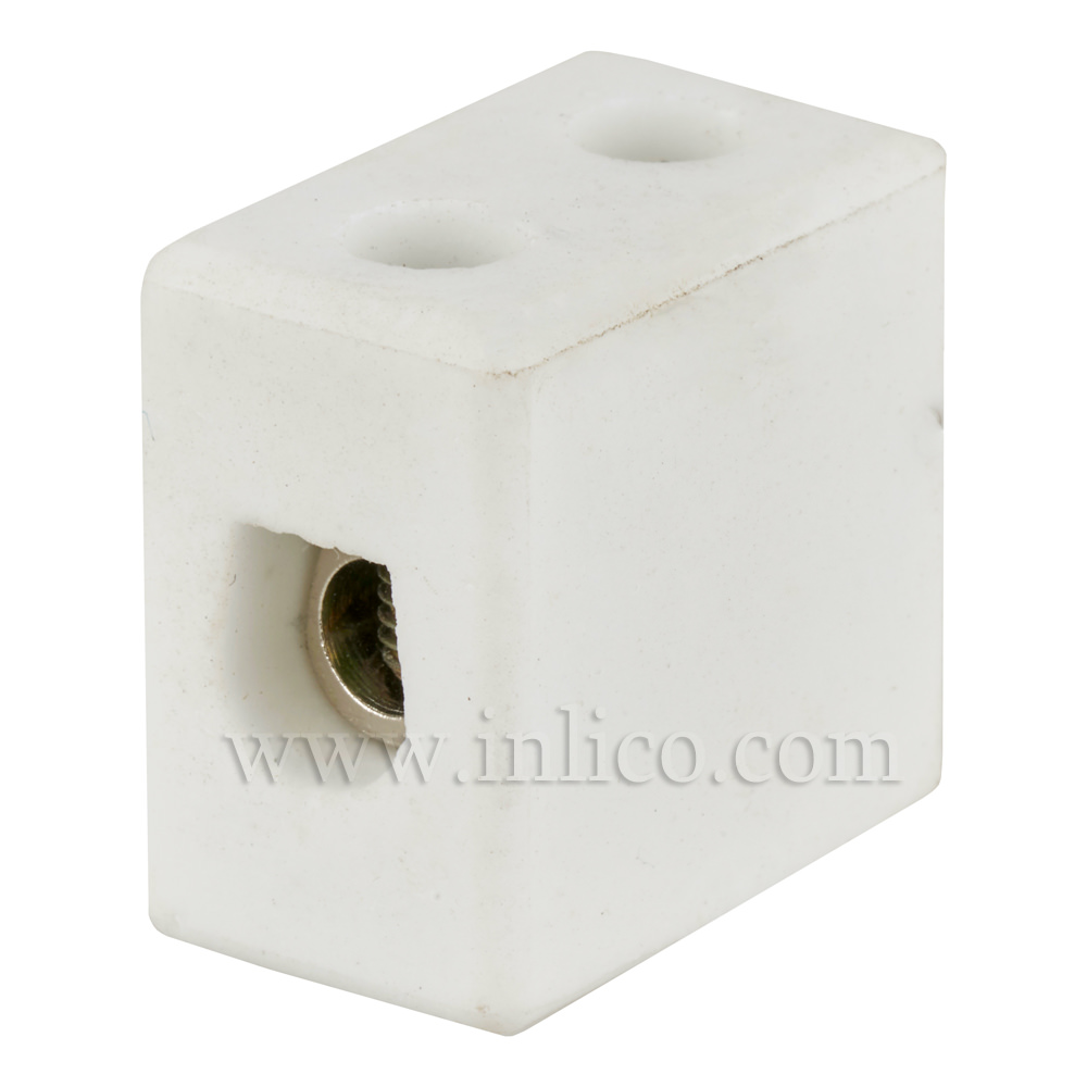 5A 1 WAY PORCELAIN CONNECTOR BLOCK