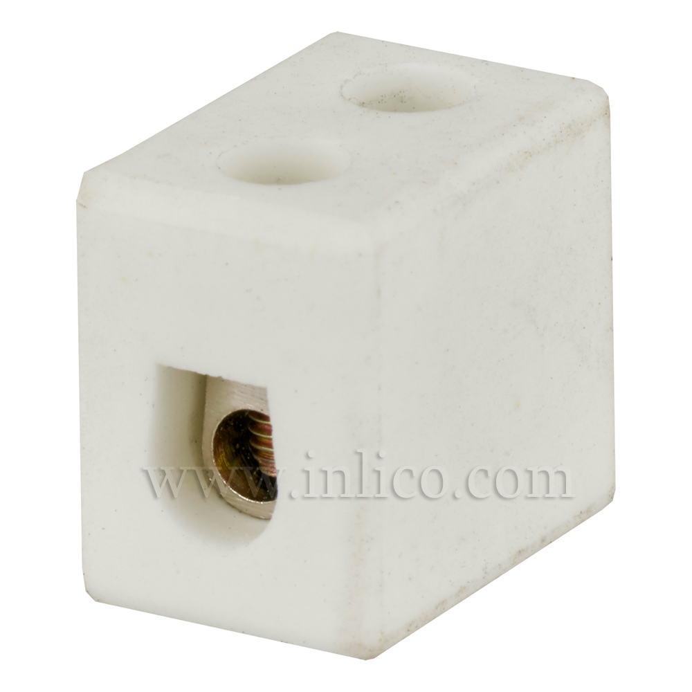 15A 1 WAY PORCELAIN CONNECTOR BLOCK
