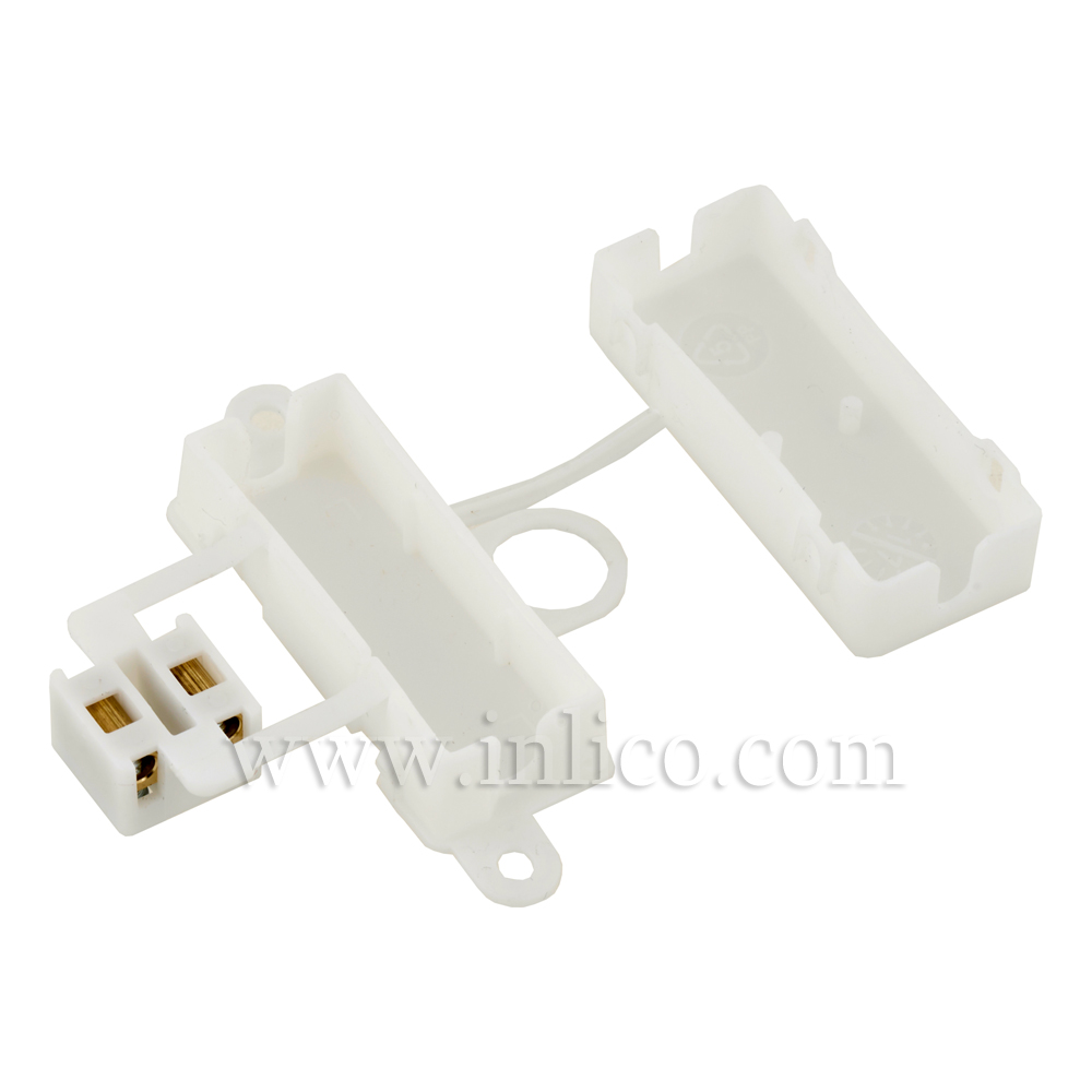 2 WAY INSULATED CONNECTOR BOX CORD GRIP'V' BOTH ENDS (WITHOUT SLEEVE) TO STANDARDS CEI60670-22:2005 AND CEI60998-2-1:2002
