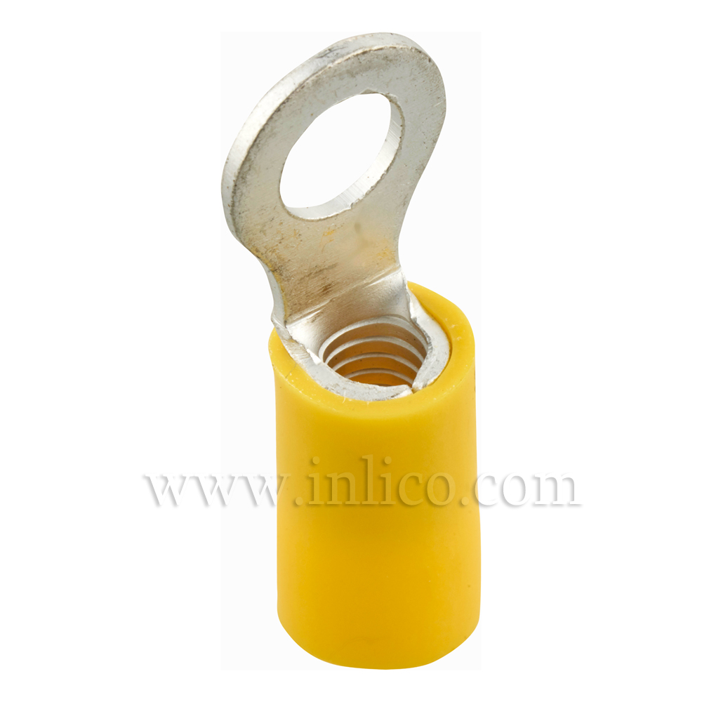 RING TERMINAL INSULATED YELLOW 4-6mm