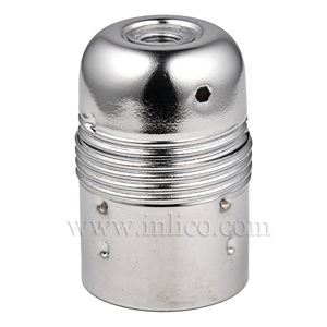 PLAIN SKIRT E27 METAL LAMPHOLDER BRIGHT ZINC PLATED WITH EARTHED CERAMIC INSERT  APPROVAL ENEC05 TO EN60238:2004