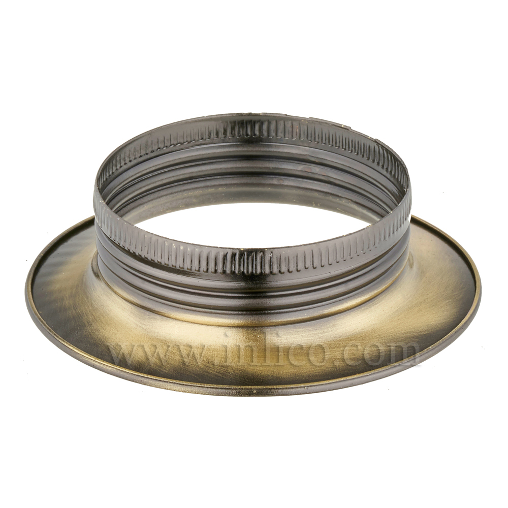 E27 METAL SHADE RING ANTIQUE BRASS FINISH