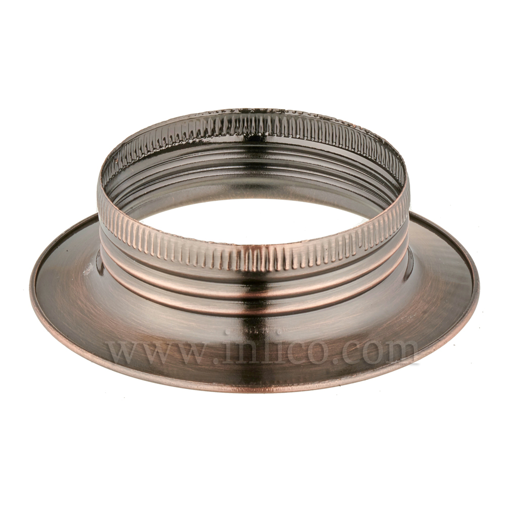 E27 METAL SHADE RING ANTIQUE COPPER FINISH