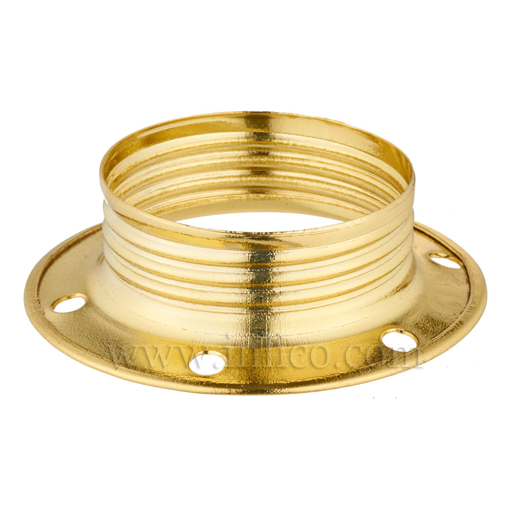 E14 METAL SHADE RING BRASS PLATED