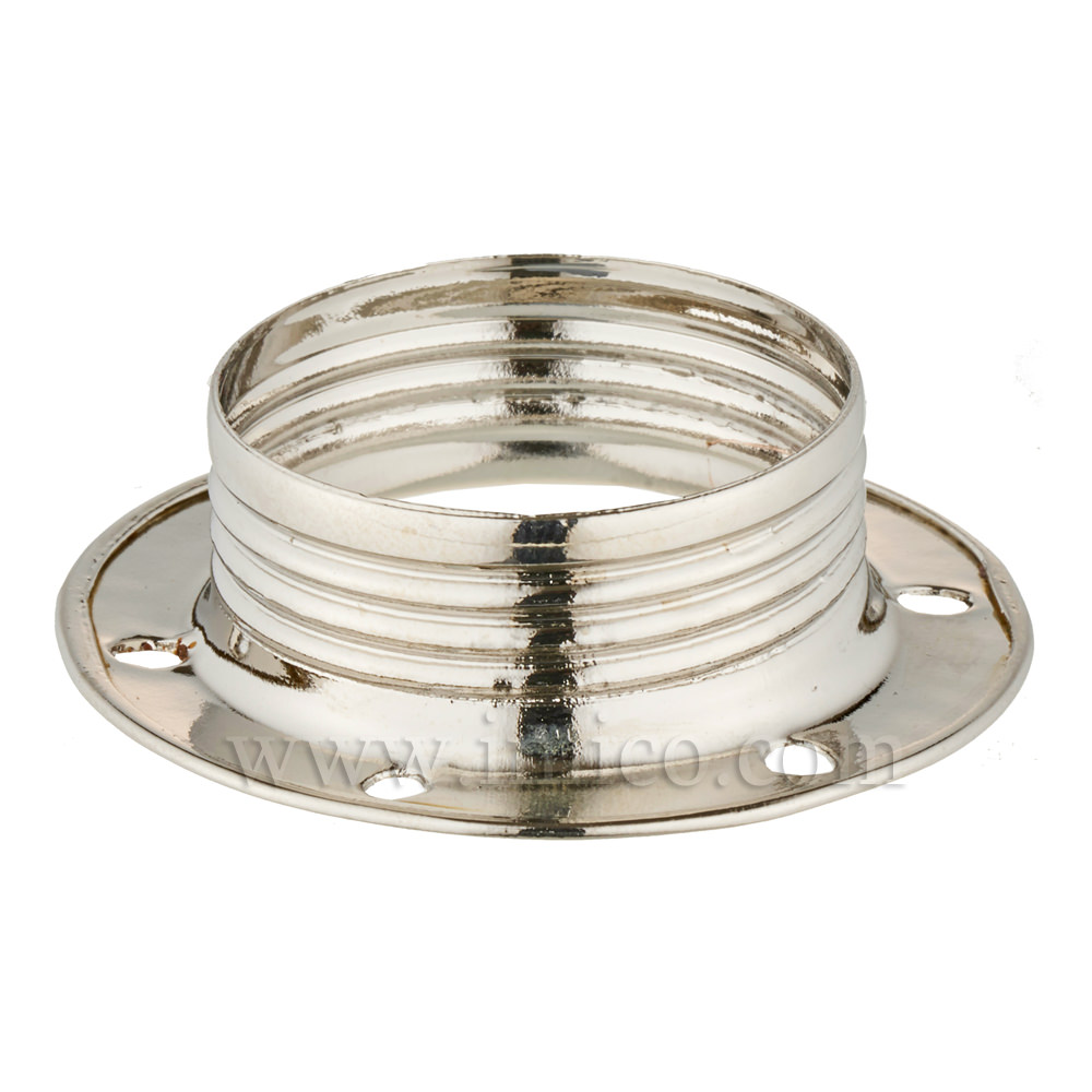 E14 METAL SHADE RING NICKEL PLATED