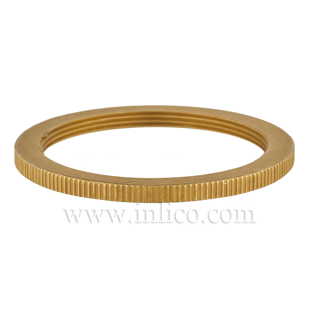 RAW BRASS SHADE RING FOR E27 BRASS LAMPHOLDER