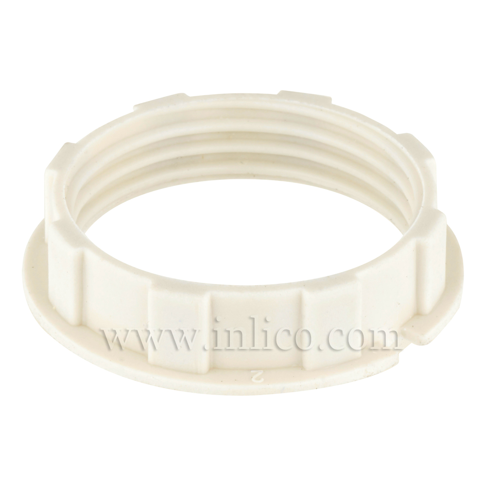 WHITE NARROW LIP SHADE RING FOR 701/702 SERIES E14 AND B15 - HEAT RESISTANT