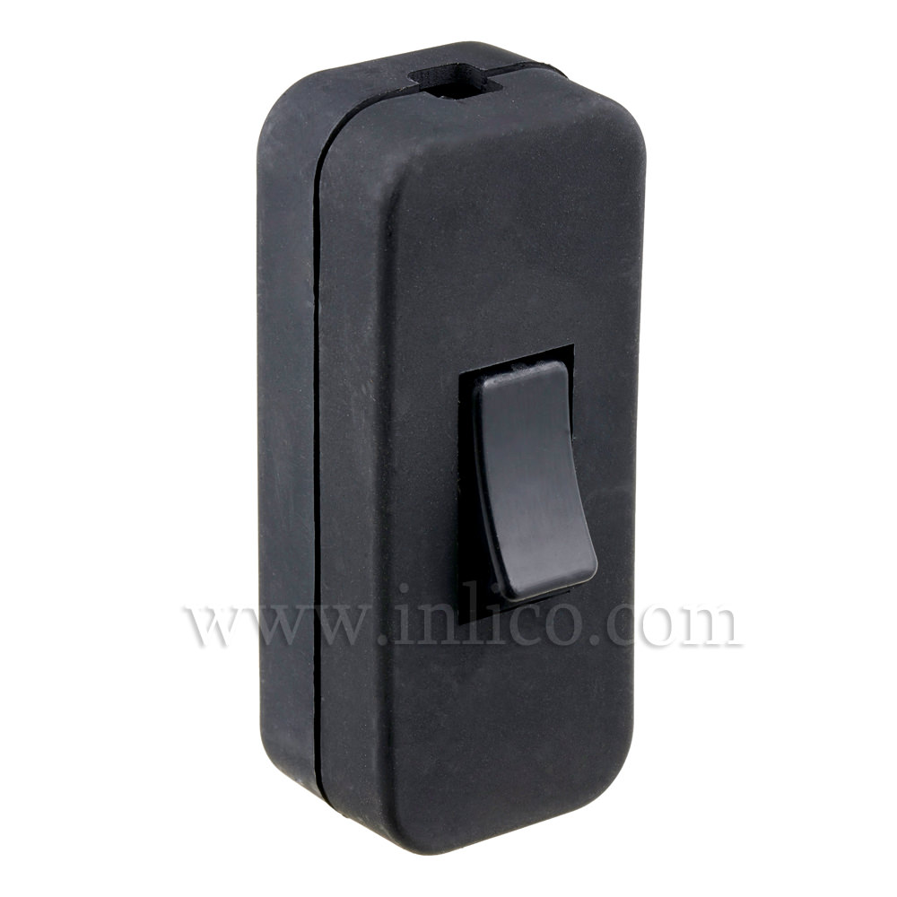 INLINE SWITCH FOR 2/3 CORE CABLE BLACK 2A SINGLE POLE SCREW TERMINALS VDE APPROVED STANDARDS EN61058-2-1:2002+A2:2008
