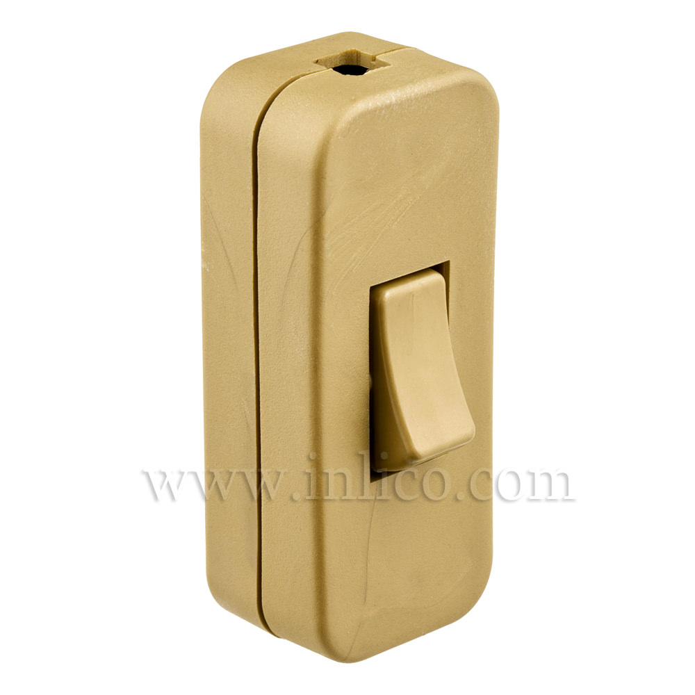 INLINE SWITCH FOR 2/3 CORE CABLE GOLD 2A SINGLE POLE SCREW TERMINALS VDE APPROVED STANDARDS  EN61058-2-1:2002+A2:2008