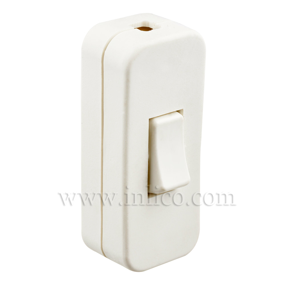 INLINE SWITCH FOR 2/3 CORE CABLE WHITE 2A SINGLE POLE SCREW TERMINALS VDE APPROVED STANDARDS  EN61058-2-1:2002+A2:2008