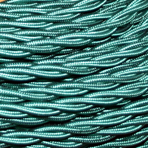 TWISTED CABLE  GREEN 3 CORE x 0.75MM DOUBLE INSULATED HO5V-K BS6500:2000