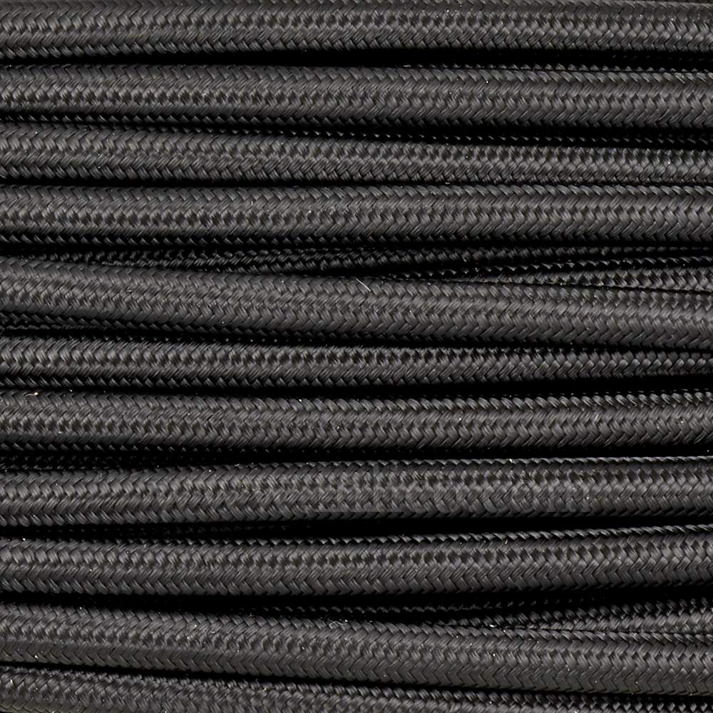 3x0.75MM FABRIC COVERED CABLE BLACK 3 X 0.5MM ROUND PVC/PVC FLEXIBLE CABLE COVERED IN BLACK FABRIC BRAIDED SLEEVE  HO3VV-F BS6500:2000