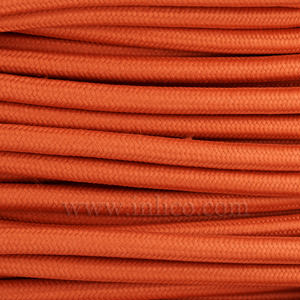 3x0.75MM FABRIC COVERED CABLE BRICK RED 3 X 0.75MM ROUND PVC/PVC FLEXIBLE CABLE COVERED IN FABRIC BRAIDED SLEEVE HO3VV-F BS5025:2011