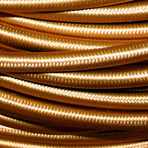 3x0.75MM FABRIC COVERED CABLE BRONZE 3 X 0.75MM ROUND PVC/PVC FLEXIBLE CABLE COVERED IN BRONZE SILK BRAIDED SLEEVE HO3VV-F BS6500:2000