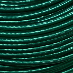 3x0.75MM FABRIC COVERED CABLE GREEN 3 X 0.75MM ROUND PVC/PVC FLEXIBLE CABLE COVERED IN GREEN FABRIC BRAIDED SLEEVE HO3VV-F BS5025:2011