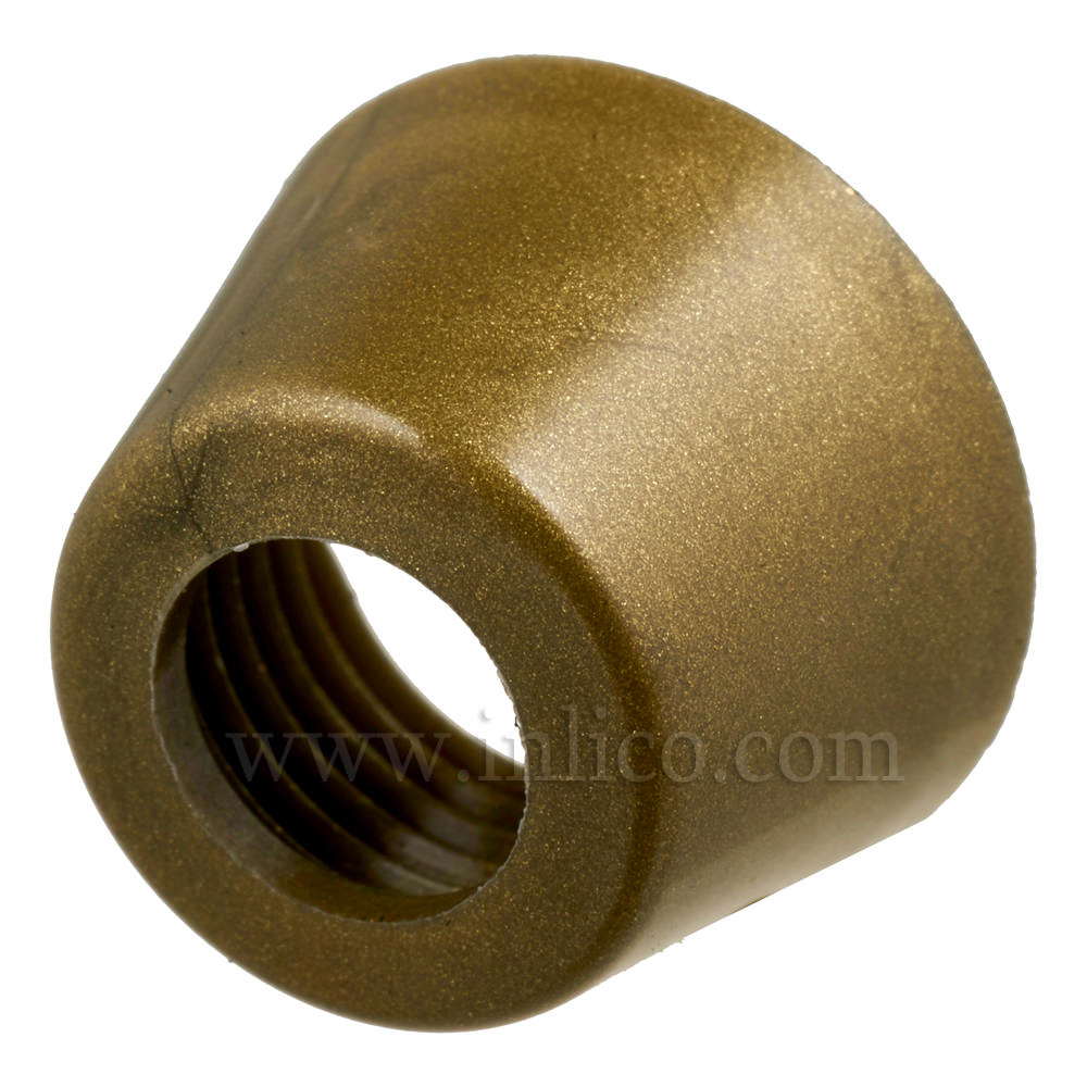 GOLD PLASTIC CAP FOR PUSH SWITCH 63A.G