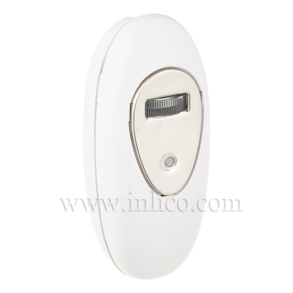INLINE DIMMER WHITE 160W with ROTARY SWITCH  STANDARD EN61058-1:2002