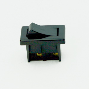 PANEL MOUNTED ROCKER SWITCH BLACK STANDARD EN61058-1:2002