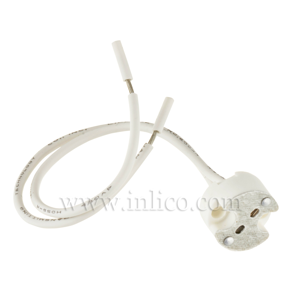 G4/GX5.3/GY6.35 LOW VOLTAGE LH PLAIN FIXING HOLE WITH 15CM SILICON CABLE