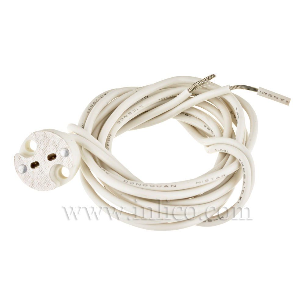 G4/GX5.3/GY6.35 LOW VOLTAGE LAMPHOLDER WITH 1 METER SILICON CABLE
