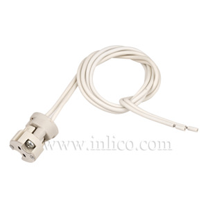 G5.3-GX5.3-GX6.35-GZ6.35. RESIN SUPPORT M10x1 WITH 450MM CABLE