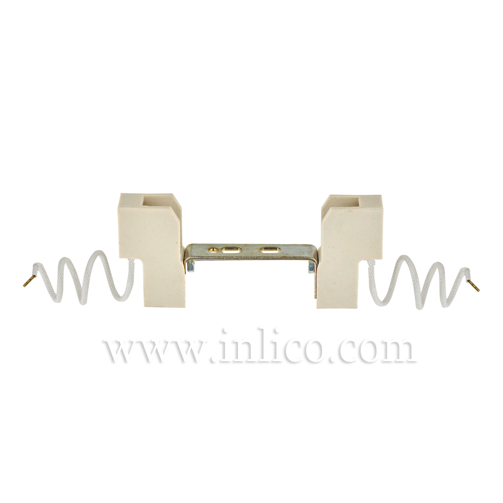 R7S TUNGSTEN HALOGEN L/HOLDERS WITH 25CM SILICON CABLE 100MM OAL 73MM BULB LENGTH TH001/A