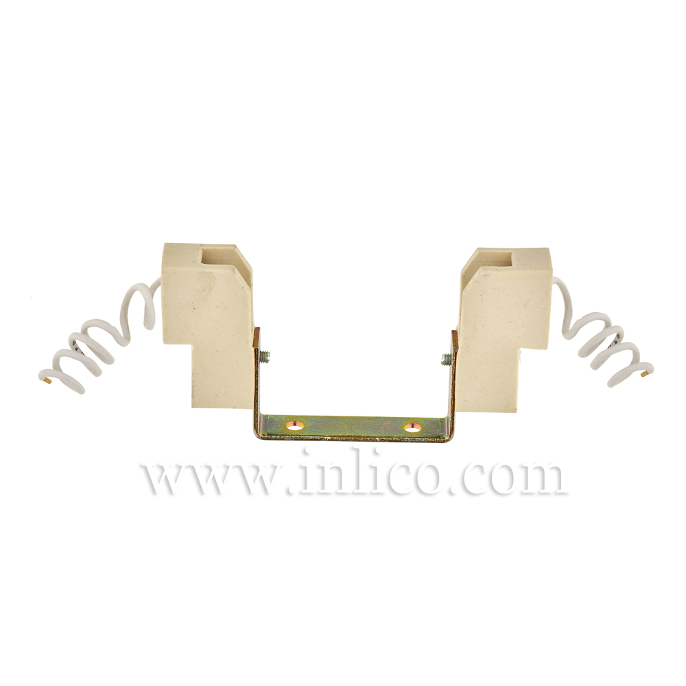 R7S TUNGSTEN HALOGEN L/HOLDERS WITH 25CM SILICON CABLE 100MM OAL 73MM BULB LENGTH