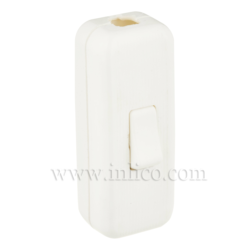 WHITE INLINE CORD SWITCH FOR 2 OR 3 CORE APPROVED TO VDE and UL  STANDARDS EN60158-1:2008 AND EN61058-2-1:2002  UL File No E85942