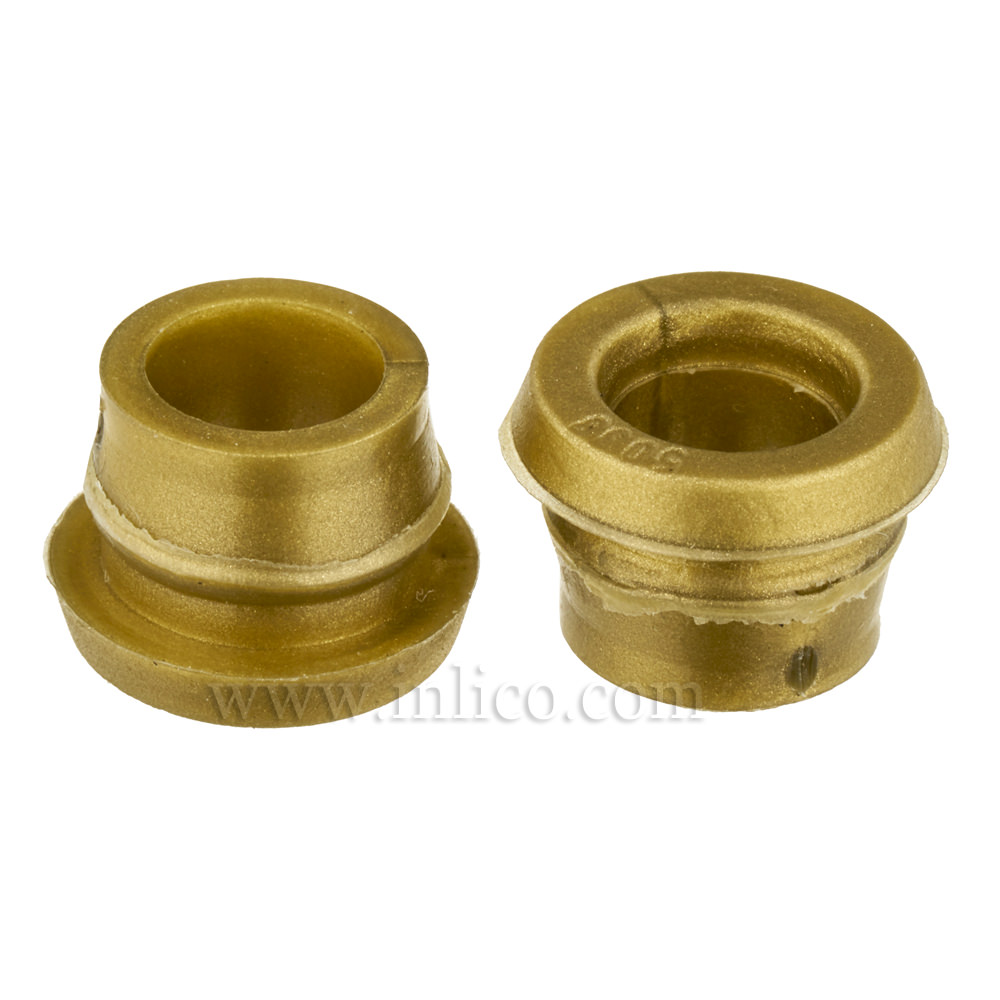 GROMMET GOLD - 9MM HOLE DIAMETER - 6.2MM ID, 8MM HIGH