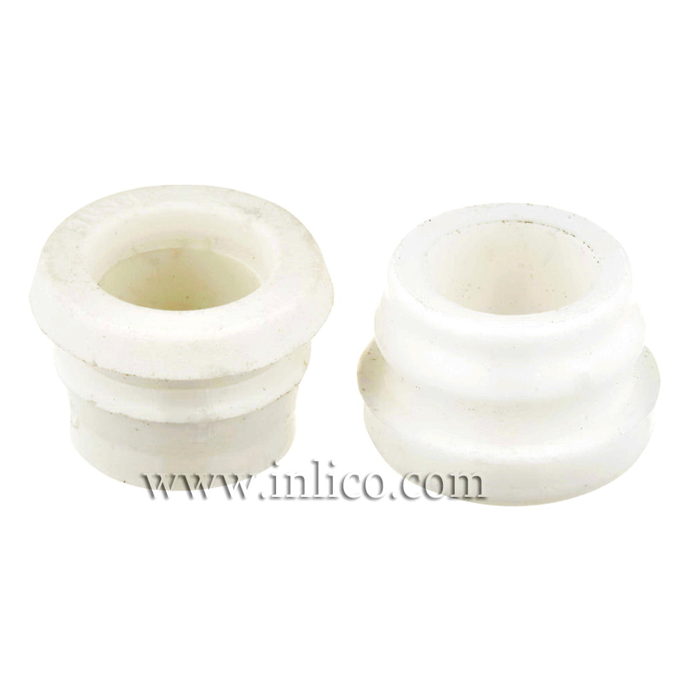 GROMMET WHITE - 9MM HOLE DIAMETER - 6.2MM ID, 8MM HIGH