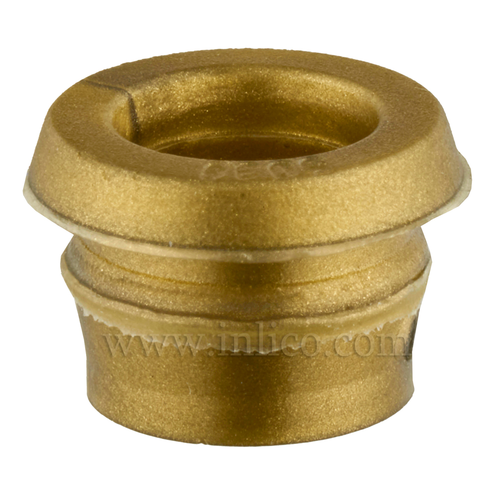 GROMMET GOLD - 10.75MM OD ( NOT INC LIP), 12.8mm  (INC LIP ) 7.2mm ID,  7.2mm HEIGHT
