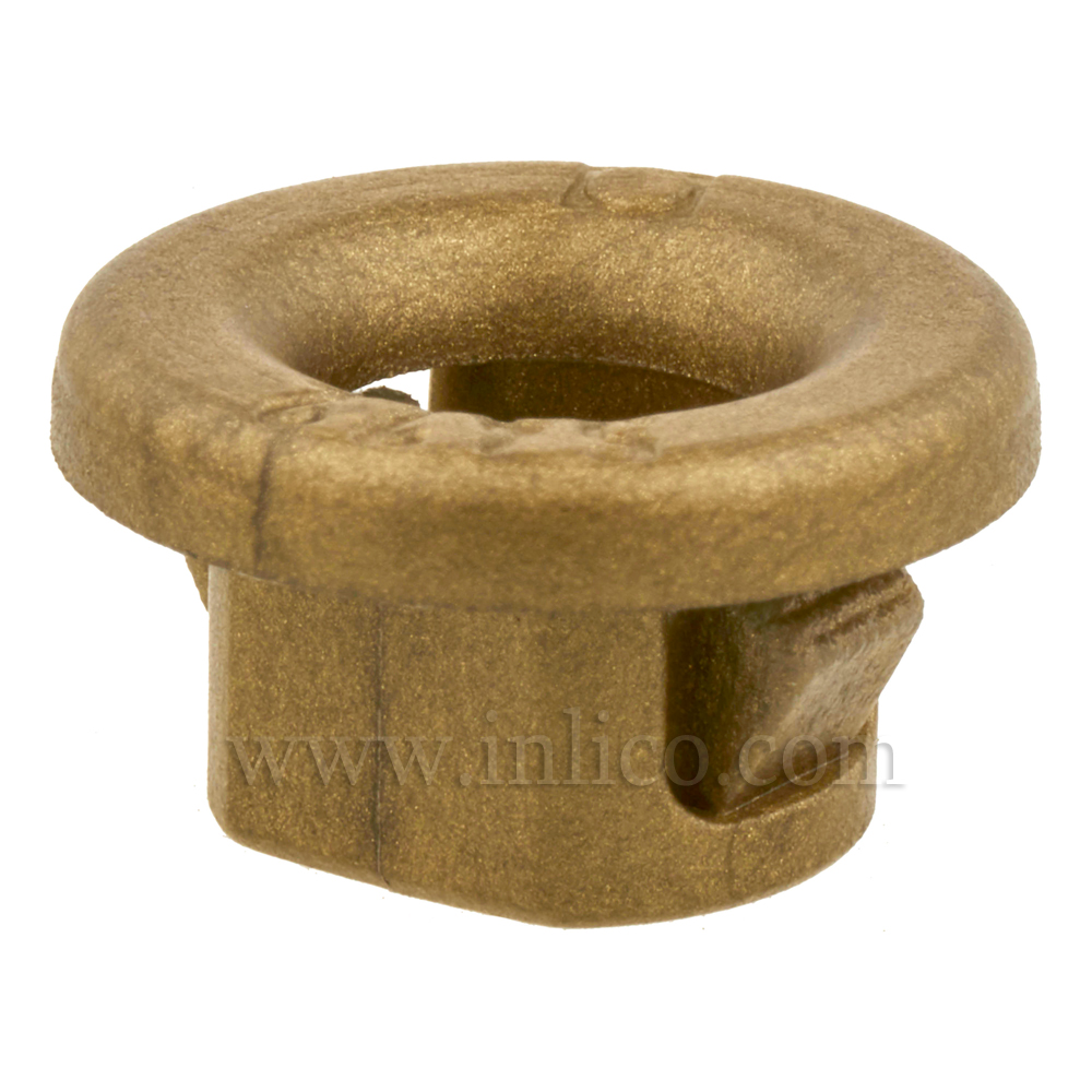 SNAP-LOCK GROMMET GOLD TO FIT 10.5MM HOLE 8MM X 14.5MM