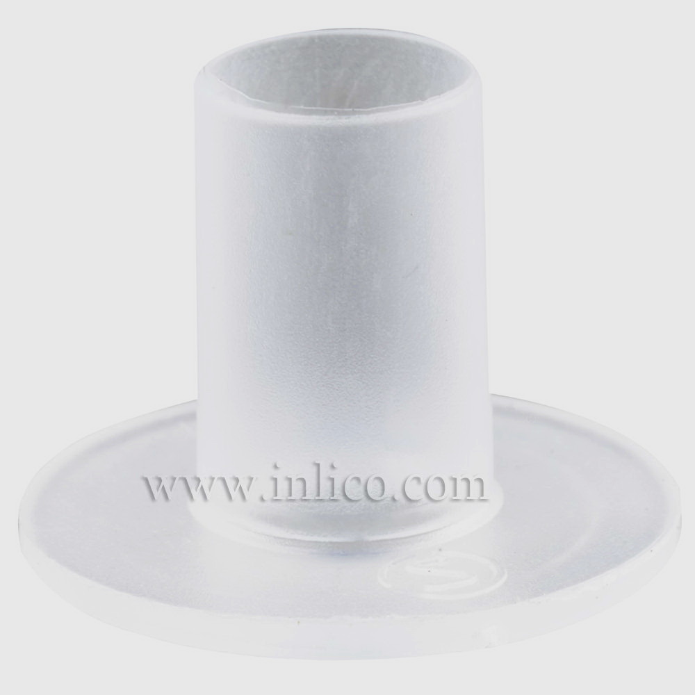 CABLE ISOLATOR FOR E14/B15 LAMPHOLDER 16MM OD 11MM OAL TUBE ID 6.2MM POLYETHYLENE CLEAR