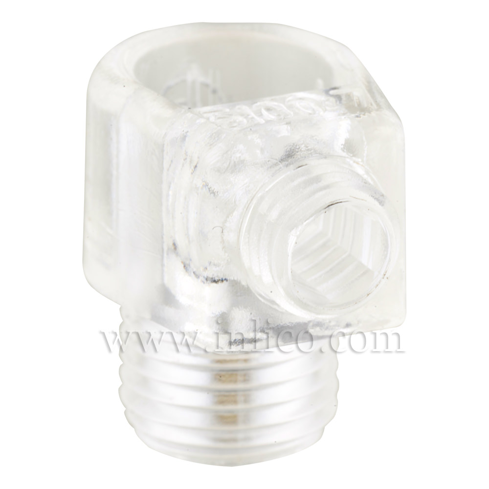 10MM S/LOCK C/GRIP MALE CLEAR WITH 10MM THREAD LENGTH