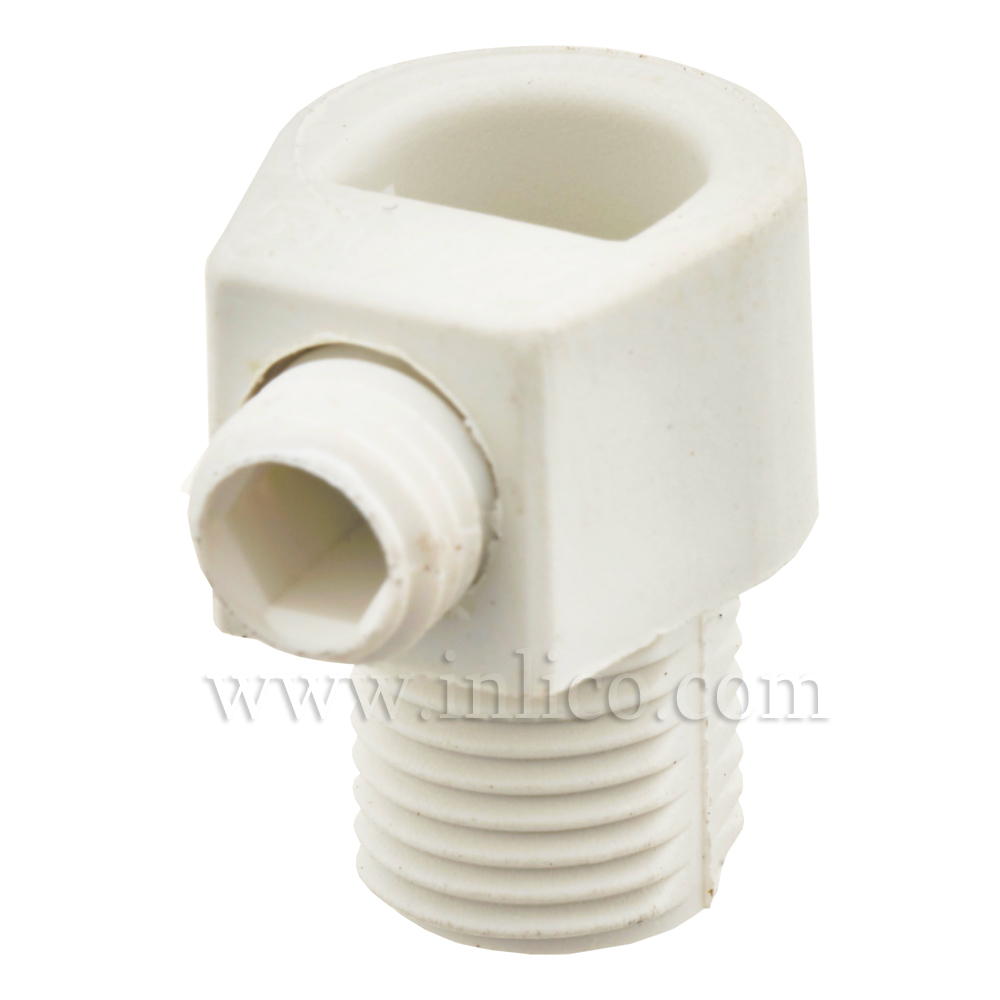 10MM S/LOCK C/GRIP MALE WHITE - LONG WITH 10MM THREAD LENGTH AND M7 LOCKING SCREW