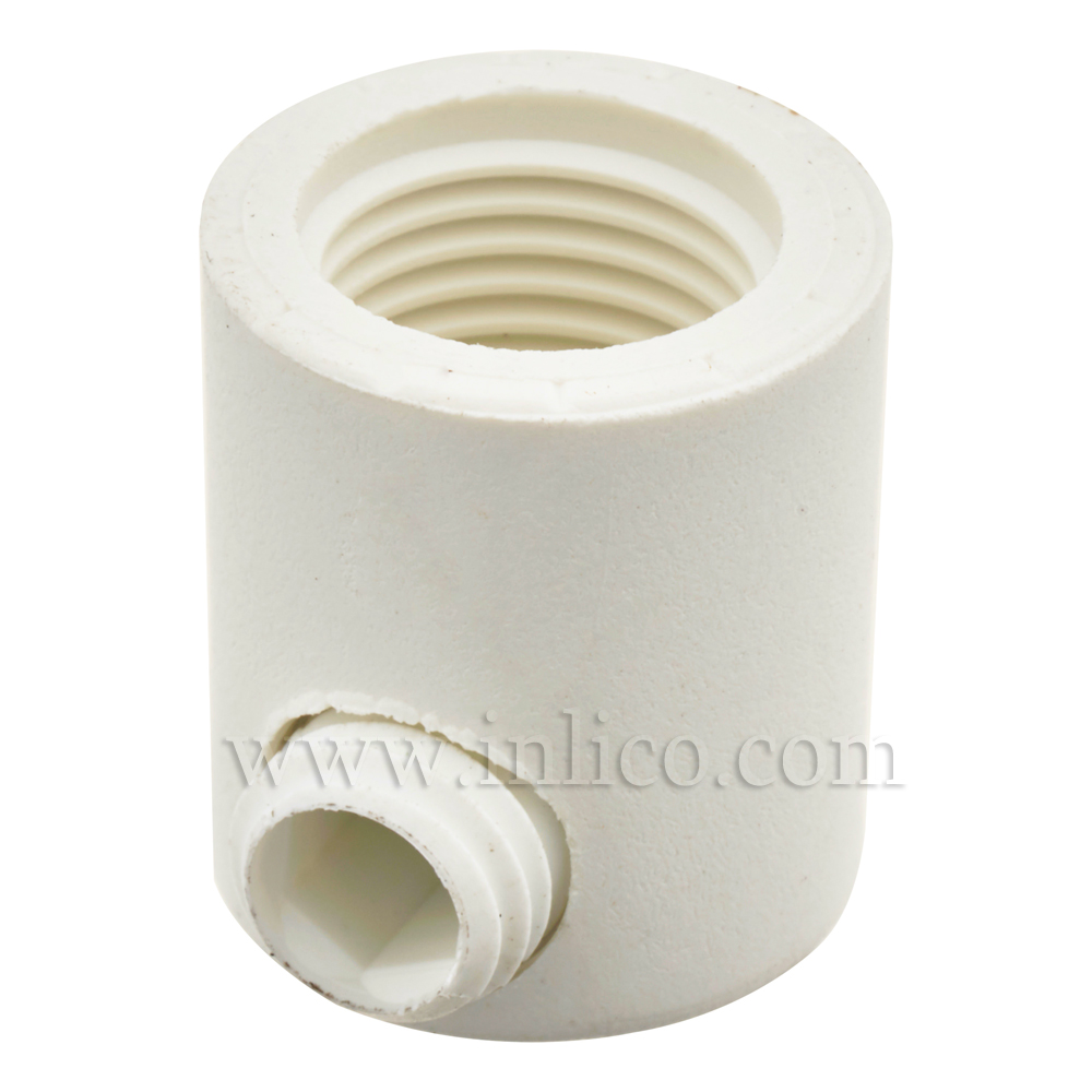 10MM S/LOCK C/GRIP FEMALE WHITE LONG WITH M7 GRUB SCREW