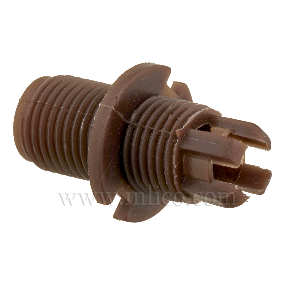 BODY FOR 2-PART LOCKING MALE CORDGRIP LONG THREAD (10MM) BROWN