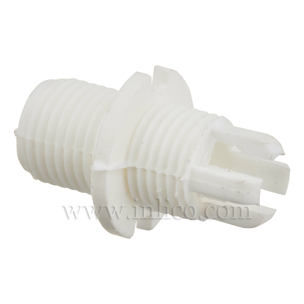 BODY FOR 2-PART LOCKING MALE CORDGRIP LONG THREAD (10MM) WHITE