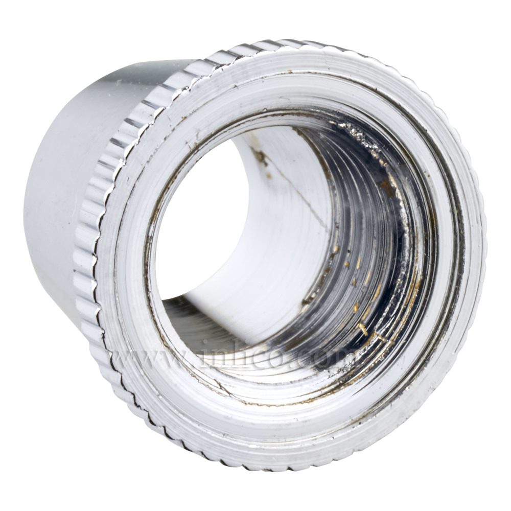 SHORT CAP FOR 2-PART LOCKING CORDGRIP CHROME PLATED BRASS
