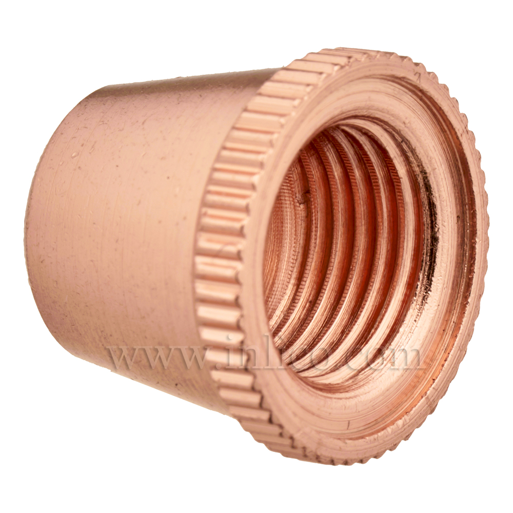 SHORT CAP FOR 2-PART LOCKING CORDGRIP COPPER PLATED BRASS