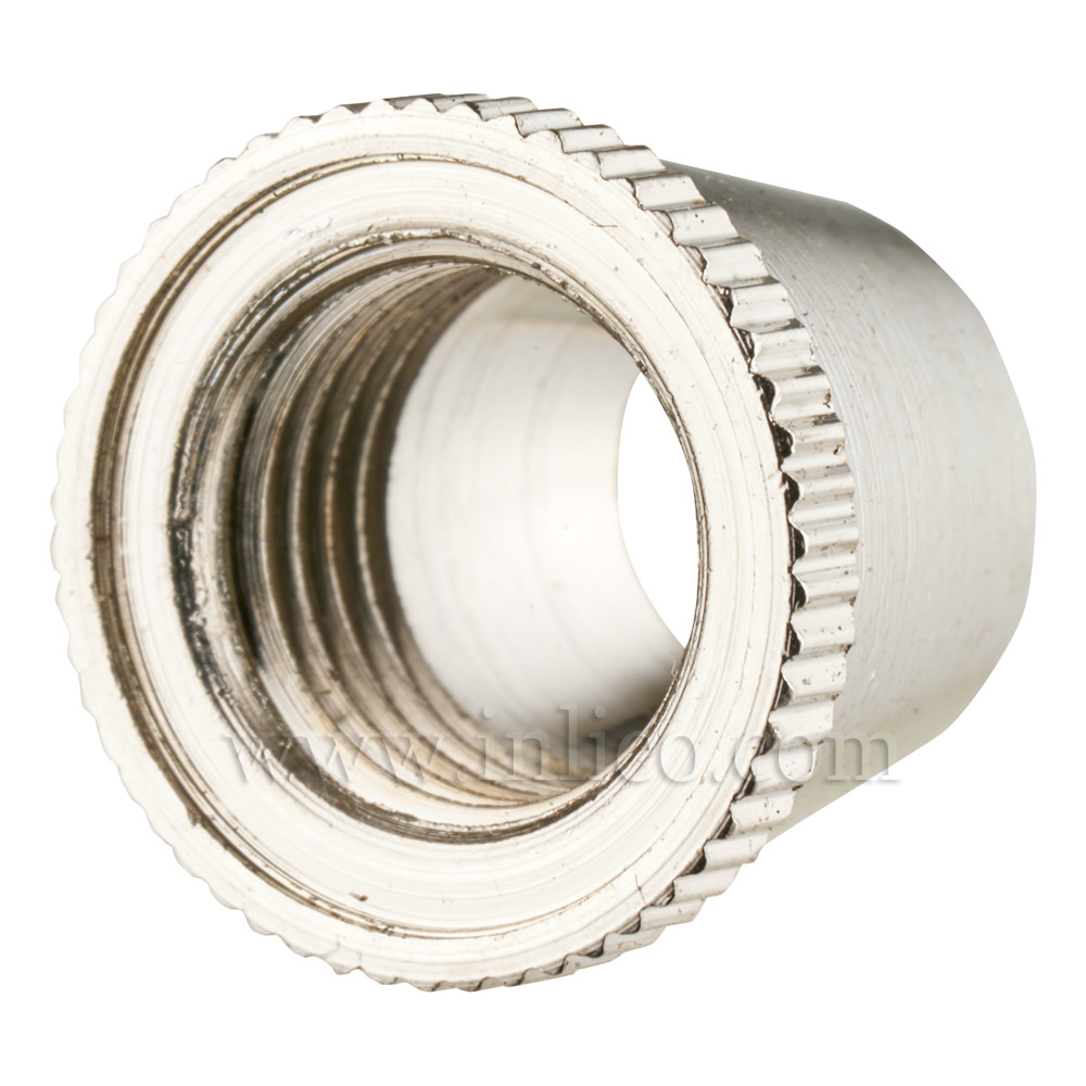 SHORT CAP FOR 2-PART LOCKING CORDGRIP NICKEL SILVER PLATED BRASS