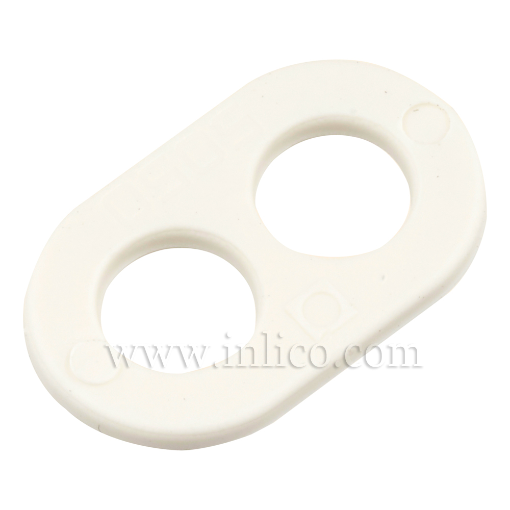 2 HOLE CORD GRIP WHITE NYLON 66