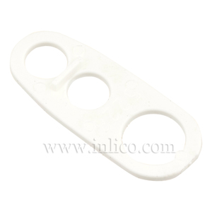 3 HOLE CORD GRIP - WHITE  39.5 x 16mm(widest)