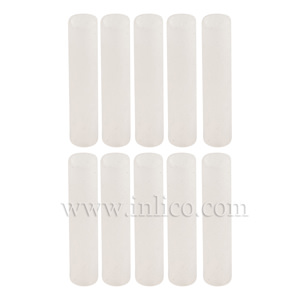 SILICONE SLEEVING CLEAR 3MM BORE, 20MM LONG