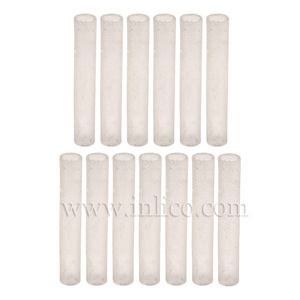 SILICONE SLEEVING CLEAR 3MM BORE, 25MM LONG