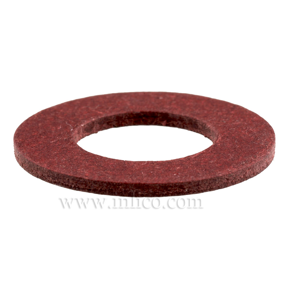 RED FIBRE WASHER ID 10.7 x 21 DIAM. x 1.5mm THICK
