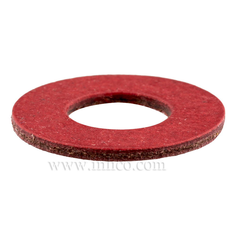 RED FIBRE WASHER ID 13.2 x 23.8 DIAM. x 1.5mm THICK