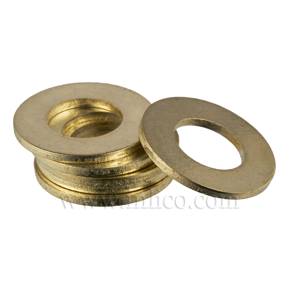 10 X 20MM BRASS PLATED STEEL WASHER