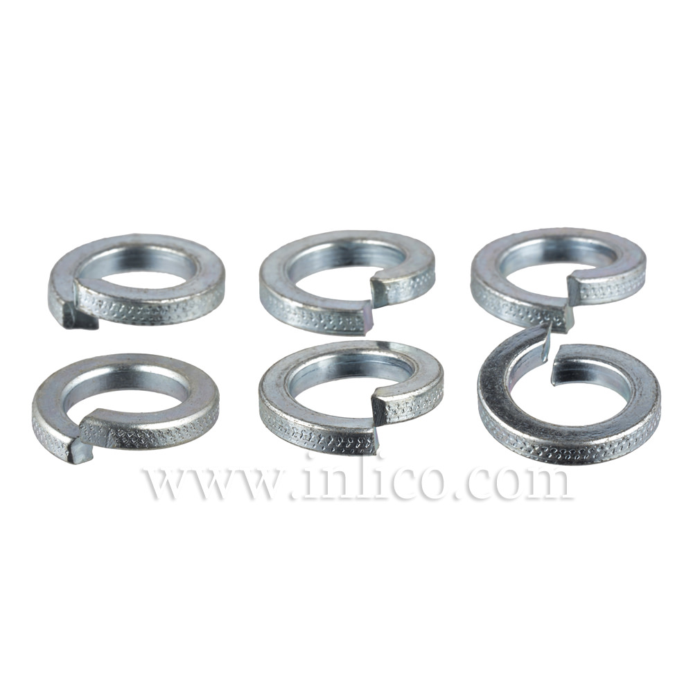 "1/2"" SPLIT SPRING WASHERS ZINC PLATED"